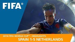 Video SPAIN v NETHERLANDS (1:5)  -  2014 FIFA World Cup™ MP3, 3GP, MP4, WEBM, AVI, FLV April 2019