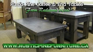 Mennonite Rustic Pine or Elm Coffee & End Tables from Reclaimed Wod