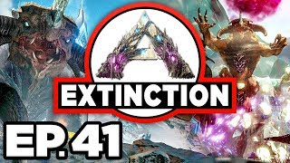 ARK: Extinction Ep.41 - UPGRADED MEK CRAFT, FOREST TITAN CAVE DINOSAURS! (Modded Dinosaurs Gameplay)