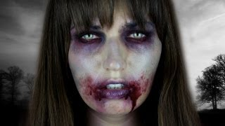 The Walking Dead ZOMBIE Halloween Tutorial - YouTube