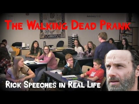 The Walking Dead Prank Rick Speeches in Real Life