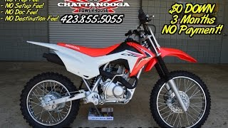 11. 2016 Honda CRF125F Big Wheel Review of Specs / Dirt Bike SALE @ Honda of Chattanooga TN (CRF125FBG)