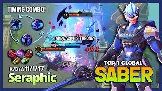 Video Saber with 5897 Match, Annoying Mid Lane! Seraphic Top 1 Global Saber ~ Mobile Legends MP3, 3GP, MP4, WEBM, AVI, FLV Juli 2018