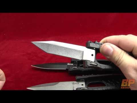 "Schrade Viper Side Opening Spring Assisted Knife SCHSA (3.2"" Plain)"