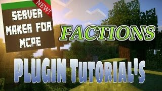 This video explains how to use the Factions plugin featured in Server Maker for Minecraft PE, the #1 app to create your own MCPE Server.You can find the application here: Android:https://play.google.com/store/apps/details?id=com.bawztech.mcpeservermakerApple/IOS:https://itunes.apple.com/us/app/server-maker-for-minecraft-pe/id1138832899?mt=8This video was sponsored by one of our users, SnowDriven.You guys should definitely check his channel out it can be found here: https://www.youtube.com/channel/UCzWVOup-HVORNT_XhJm_6CAThe game you see featured in this video is Minecraft: Pocket Edition, this game is published by Mojang, a company owned by Microsoft. We do not have any affiliation with them, nor are we endorsed with them. This video exists for informational purposes only.