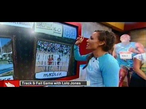 lolo jones - June 30, 2014 Fresh off her 100 meter hurdle bronze medal finish at the USA Outdoor Track and field championships Lolo Jones visits Michelle Beadle and Marce...