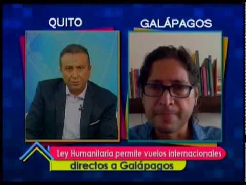 Ley Humanitaria permite vuelos internacionales directos a Galápagos