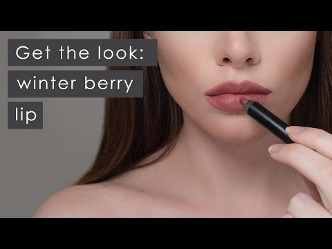 Get the look: winter berry lips