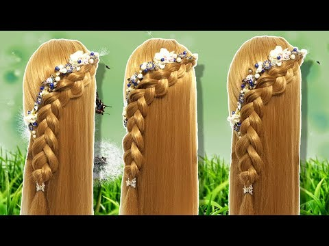 Wedding guest hairstyle in just 2 minutes  Beautiful hairstyles for long hair  Hairstyle for girl