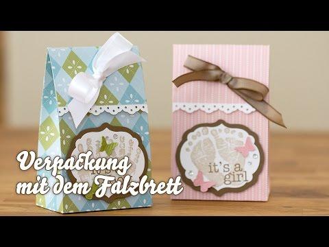 Tutorial - Verpackung mit dem Simply Scored Falzbrett von Stampin' Up!