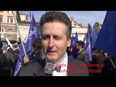 Confartigianato Pistoia in piazza a Roma