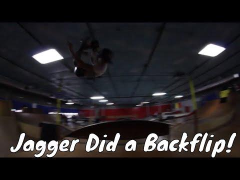 Skate Day At Kids That Rip!  Jagger Eaton Backflips Mini Mega Ramp!!