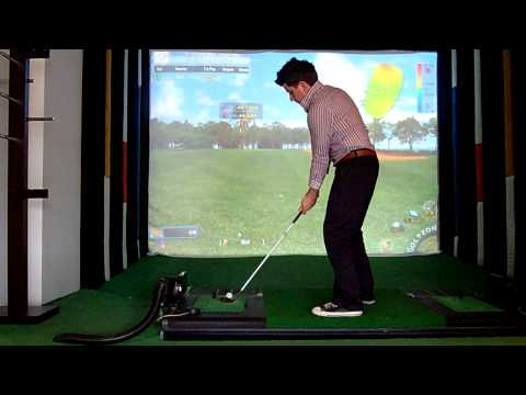 Golfzon golf simulator; tracer type view, flop shot