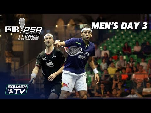 Squash: CIB PSA World Tour Finals 2018/19 - Men's Day 3 Roundup