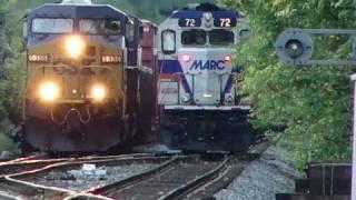 csx and marc trains meet