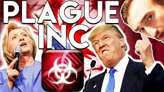 PLAGUE INC. HILLARY CLINTON VS DONALD TRUMP CHALLENGE (US ELECTION MODE)