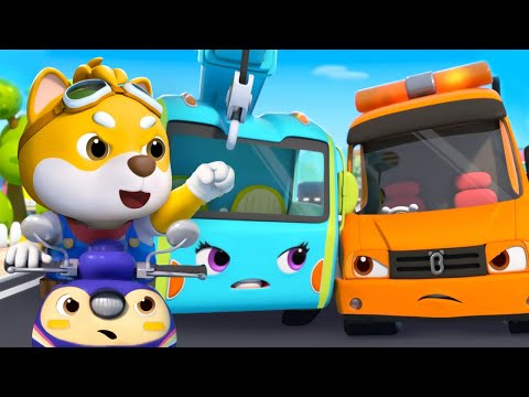 Tow Truck VS Crane Truck, Who Is Stronger? | Cars for kids |  BabyBus Nursery Rhymes & Kids Songs