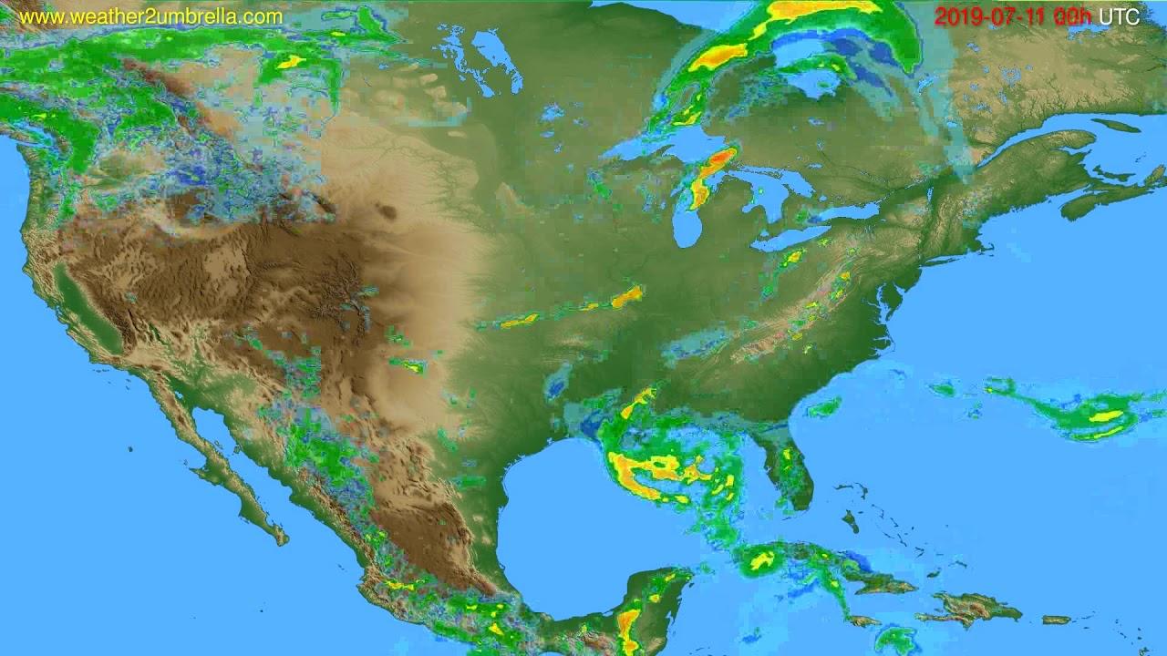 Radar forecast USA & Canada // modelrun: 12h UTC 2019-07-10