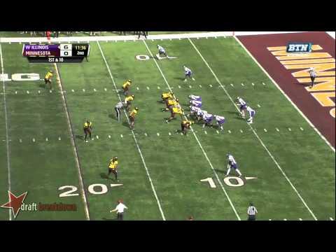 Ra'Shede Hageman vs Western Illinois 2013 video.