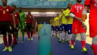 Watch highlights of the Brazilian and Mozambican futsal teams, who played a great match at the Futsal World Cup in Colombia.