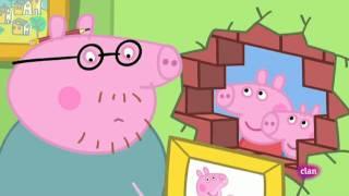 Peppa Pig en castellano. bricolaje con papa.avi