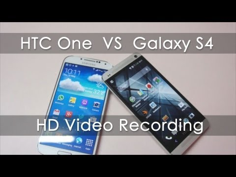 comparision - I do side by side comparison of HD Video recording between the HTC One Vs Samsung Galaxy S4. I do 2 test one in natural day light and other in artificial lig...