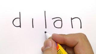 Download Video KEREN, cara menggambar DILAN dari kata DILAN. MP3 3GP MP4