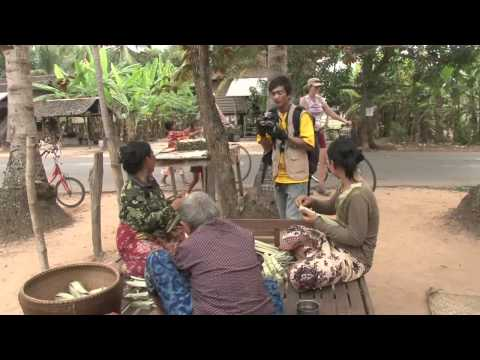 Cambodian - http://tourvideos.com/ Walk through a typical Cambodian village, Preăh Dák, near Angkor Wat, and experience rural life with the local residents and their s...