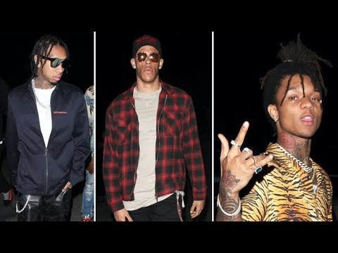 Lonzo Ball, Tyga And Swae Lee Attend The Post Malone Concert At The Hollywood Bowl