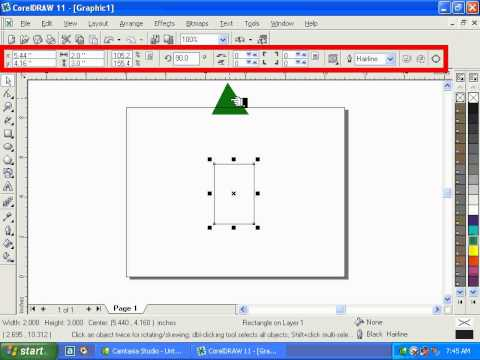 COREL DRAW 11 COMPLETE TUTORIALS IN URDU Introdution To Rectangle