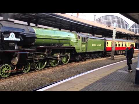 LNER Peppercorn A1 60163 Tornado departing Newcastle with...