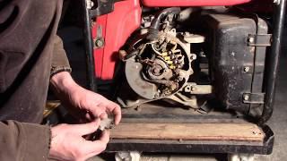 8. Honda generator not producing power.