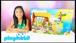 Take part in the perfect summer camp experience at the Camping Lodge. Thank you Playmobil for sponsoring this video.Check out Playmobil social media:Website: www.playmobil.caTwitter:@playmobilFacebook: @playmobilcanadaInstagram: @playmobilTry your hand at archery with the practice bull's-eye or get a bird's eye view of the campsite as you zoom across the zip line. Inside the fully-furnished lodge, you'll find everything you need to feel at home, including a cooking area with food, pots and pans, dishes, and more. Wash off the day's grime in the outdoor shower and bathroom, before enjoying a meal around the communal table. When your adventure-filled day is done, wind down in front of the campfire, telling stories and singing songs before climbing into one of the five comfortable bunk beds. Set includes one adult figure, three child figures, camp fire, kitchen supplies, table, benches, archery target, bow and arrows, violin, soccer ball, plenty of food, and many other accessories. Recommended for ages four years and up. Dimensions: 11x9.1x9.8 inches (LxWxH)Warning. Choking Hazard. Contains a small ball and small parts. Not for children under 3 years.#playmobil#playmobilfamilyfun#playmobilsummercamp#playmobilcamp#playmobilcamping#playmobilzipline#playmobilcampinglodge#playmobilsummerkidscamp❤❤❤Social Media❤❤❤♥ Please Subscribe! https://www.youtube.com/c/tianahearts♥ My Twitter: http://twitter.com/TianaHearts♥ My Instagram: http://instagram.com/TianaHearts~~~~~~~~~~~~~~~~~~~~~~~~~~~~~~~~~~~~~~~~~~~~Hi!! Welcome to my channel, my name is Tiana (TT). Mommy and I make videos on stuff that we love and enjoying doing. Here you will find DIY's, toy reviews, vlogs, playing with toys etc..This Channel is family and kid friendly :) Please don't forget to subscribe so you'll know when a new video is posted. If you have any video suggestions let me know :) Thank you for your support  xoxox Tiana & Mommy HeartsToy in other Languages: खिलौने, brinquedos, ของเล่น, اللعب, igračke, đồ 