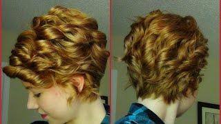 How To Curl A Pixie Haircut! Curling Hair W/ Strai