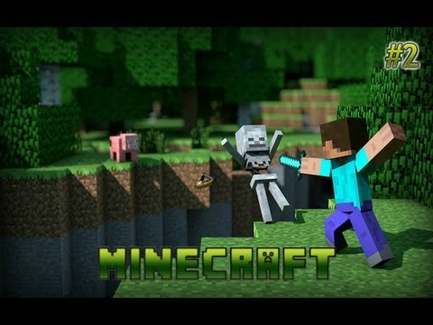 Minecraft Bölüm 2 | Yatak Meşale ve Ev Yapımı | Oyun Makinesi