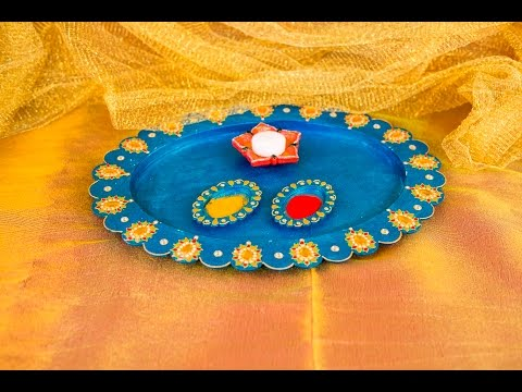 5 step Diwali Thali Decoration