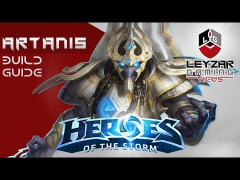 Heroes of the Storm (Gameplay) - Artanis Build Guide Tank (HotS Artanis Gameplay Quick Match)