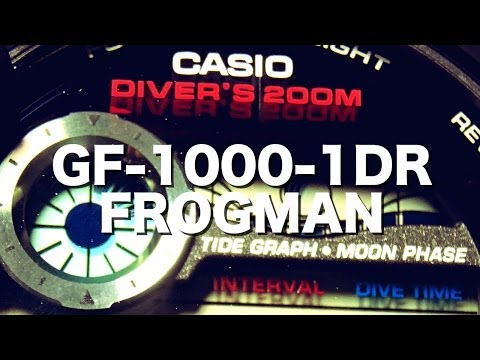 CASIO G-SHOCK REVIEW AND UNBOXING GF-1000-1DR BLACK FROGMAN