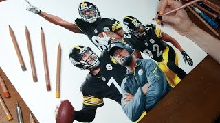The Pittsburgh Steelers - Photorealistic Drawing