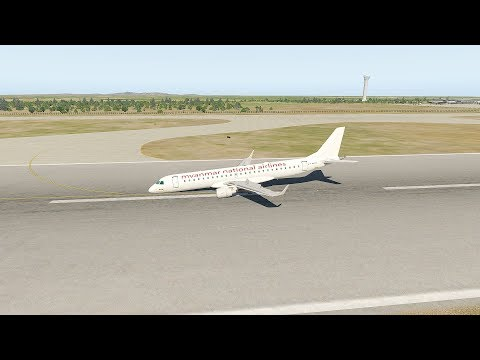 Myanmar Airlines Embraer 190 Emergency Landing At Mandalay Airport | X-Plane 11
