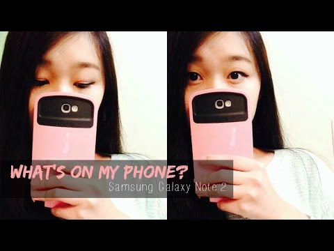 What's On My Phone? // Samsung Galaxy Note 2 ♡