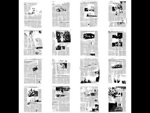 GAN Demo: Training to synthesize newspaper pages