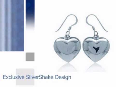 Heart Sterling Silver Dangle Earrings