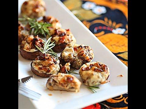 antipasto di funghi ripieni - ricetta