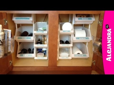 Organization - Products Used In This Video (Stackable Bins): http://alejandra.tv/blog/recommends/bins-to-maximize-vertical-space/ Products Used In This Video (Over-The-Door...