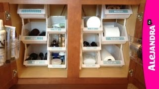 Bathroom Organization: How to Organize Under the Cabinet