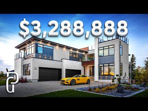 Inside a $3,288,888 Modern Mansion in Edmonton Alberta Canada! | Propertygrams Mansion Tour
