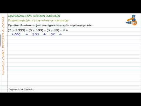 Vídeos Educativos.,Vídeos:Descomponer números naturales 3