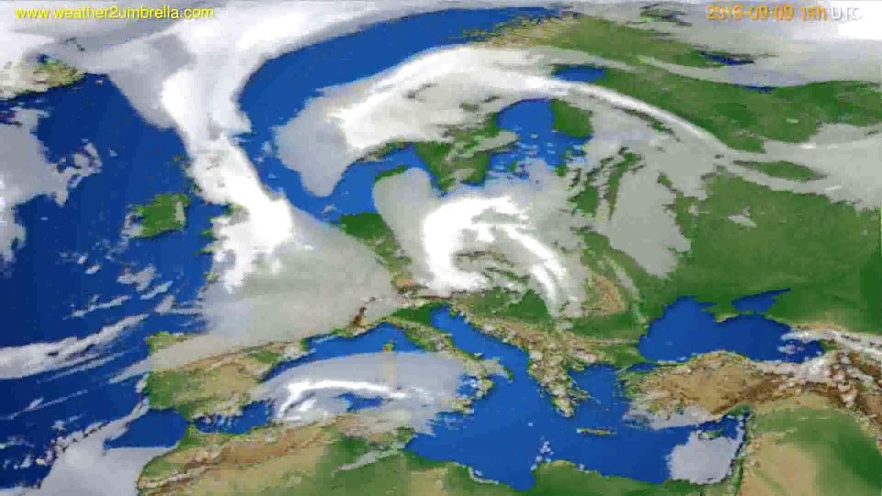 Cloud forecast Europe // modelrun: 00h UTC 2019-09-07