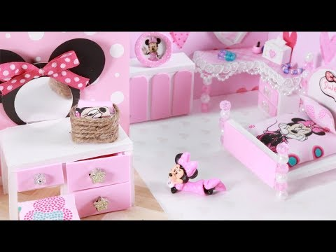 6 DIY DISNEY MINNIE & MICKY MOUSE ROOMS! SCHOOL SUPPLIES, NOTEBOOKS, BACKPACK